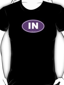 Indiana IN Euro Oval PURPLE T-Shirt