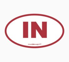 Indiana IN Euro Oval RED by USAswagg