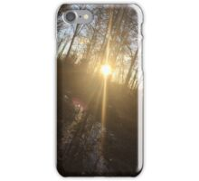 Pretty sunset with little creek iPhone Case/Skin