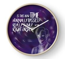 Eleventh Doctor - Is This How Time Passes?  Really Slowly, and in the Right Order? Clock