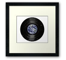 Earth In Space Vinyl LP Record Framed Print