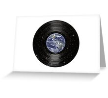 Earth In Space Vinyl LP Record Greeting Card