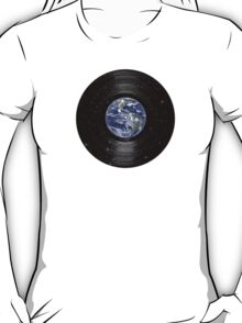 Earth In Space Vinyl LP Record T-Shirt