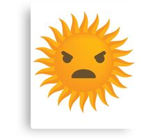 Sun Emoji Angry and Furious Look Canvas Print