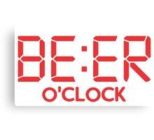 Beer O'Clock Canvas Print