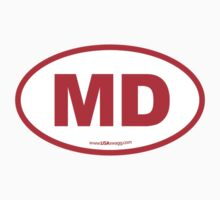 Maryland MD Euro Oval RED Kids Clothes