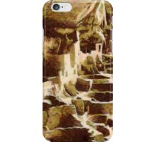 A digital painting of the Cliff Palace,  Mesa Verde National Park, Colorado 1190 CE iPhone Case/Skin