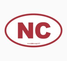 North Carolina NC Euro Oval RED Kids Clothes