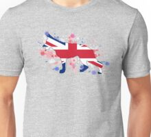 German Shepherd: UK Flag Unisex T-Shirt