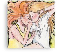 A sunny friendship Canvas Print