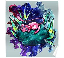 third eye lily pad space mew Poster