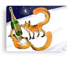 Foxy New Years Celebration Metal Print