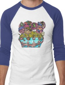 cake pop frog box (color) Men's Baseball ¾ T-Shirt