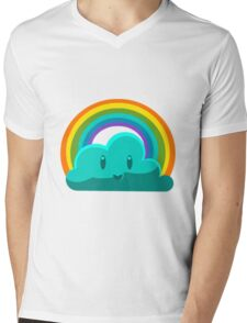 Rainbow Cloud Mens V-Neck T-Shirt