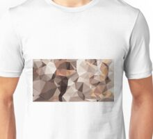 brown orange and black geometric drawing and painting Unisex T-Shirt