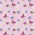 Сгеу floral and butterflies pattern.Doodles by Tatiakost