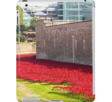 Ceramic poppies at the Tower of London iPad Case/Skin