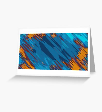 blue green orange brown abstract background Greeting Card