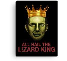 All Hail The Lizard King Canvas Print