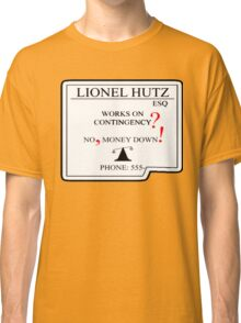 Lionel Hutz Business Card The Simpsons Classic T-Shirt