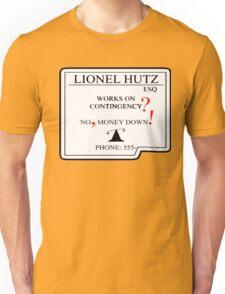 Lionel Hutz Business Card The Simpsons Unisex T-Shirt
