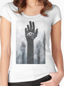 T-SHIRT WHITE SMALL MENS Women's Fitted Scoop T-Shirt