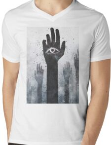 T-SHIRT WHITE SMALL MENS Mens V-Neck T-Shirt