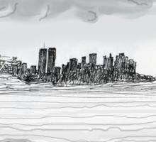 New York City skyline in November 2000 from the Staten Island Ferry.* Sticker