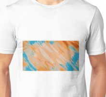 orange brown and blue painting abstract background Unisex T-Shirt