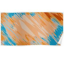orange brown and blue painting abstract background Poster