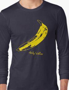 Retro Velvet Underground Andy Warhol Banana Rock Black T Shirt Sz S M L XL Long Sleeve T-Shirt
