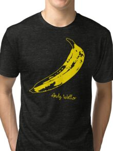 Retro Velvet Underground Andy Warhol Banana Rock Black T Shirt Sz S M L XL Tri-blend T-Shirt