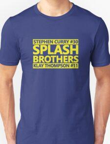 SPLASH BROTHERS (#11 and #30) Unisex T-Shirt
