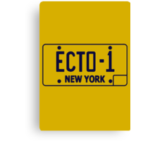 Ecto 1 Plate Canvas Print