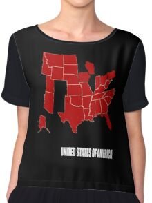the new america 2016 election map Chiffon Top