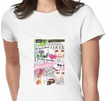 Scrapbook Scraps Magazine Cutouts Girly Pop Womens Fitted T-Shirt