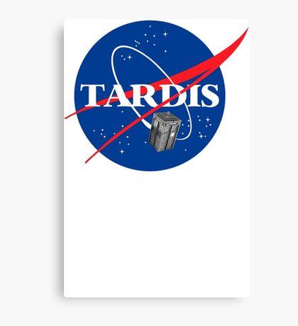Tardis NASA T Shirt Parody Dr Dalek Who Doctor Space Time BBC Tenth Police Box Canvas Print