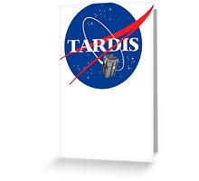 Tardis NASA T Shirt Parody Dr Dalek Who Doctor Space Time BBC Tenth Police Box Greeting Card