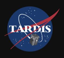 Tardis NASA T Shirt Parody Dr Dalek Who Doctor Space Time BBC Tenth Police Box by beardburger