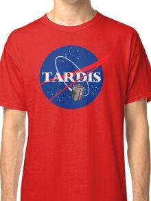 Tardis NASA T Shirt Parody Dr Dalek Who Doctor Space Time BBC Tenth Police Box Classic T-Shirt