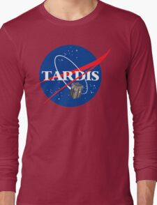 Tardis NASA T Shirt Parody Dr Dalek Who Doctor Space Time BBC Tenth Police Box Long Sleeve T-Shirt