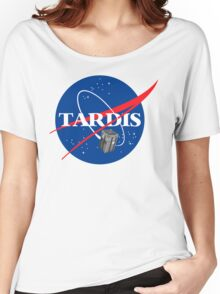 Tardis NASA T Shirt Parody Dr Dalek Who Doctor Space Time BBC Tenth Police Box Women's Relaxed Fit T-Shirt