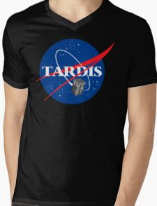 Tardis NASA T Shirt Parody Dr Dalek Who Doctor Space Time BBC Tenth Police Box Mens V-Neck T-Shirt