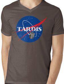 Tardis NASA T Shirt Parody Dr Dalek Who Doctor Space Time BBC Tenth Police Box Mens V-Neck T-Shirt
