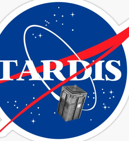 Tardis NASA T Shirt Parody Dr Dalek Who Doctor Space Time BBC Tenth Police Box Sticker