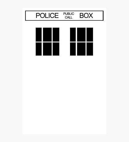 THE BLUE BOX T Shirt Doctor Doc Dalek BBC Bow Tie TV Tenth Eleventh Who Police Photographic Print