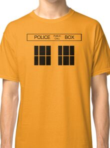 THE BLUE BOX T Shirt Doctor Doc Dalek BBC Bow Tie TV Tenth Eleventh Who Police Classic T-Shirt