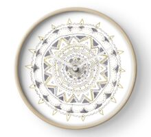 Silver Mandala Clock