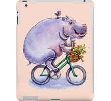 hippo on bicycle with icecream iPad Case/Skin