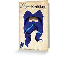 Happy birthday fake beard cutout mask birthday card bluebeard Greeting Card